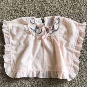 Tommy Bahama soft pink poncho with embroidery
